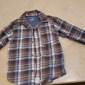 Carter boys plaid shirt